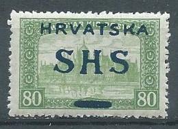Yougoslavie YT N°21 Parlement De Budapest Surchargé Hrvatska SYHS Kruna Neuf ** - Unused Stamps