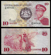 LESOTHO BANKNOTE - 10 MALOTI (1981-84) P#6b VF (NT#02) - Lesotho