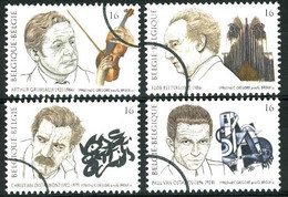 België 2666/69 SPEC - Muziek En Literatuur - Grumiaux - Dotremont - PERSSTEMPEL - Specimen - PRESSE - Usados