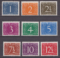 1950 NNG Cijferserie Ongestempelde Serie NVPH 1 / 9 - Niederländisch-Neuguinea