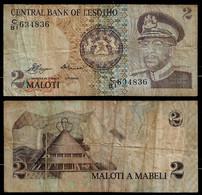 LESOTHO BANKNOTE - 2 MALOTI (1981) P#5a F (NT#02) - Lesotho
