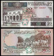 SOMALIA BANKNOTE - 20 SHILLINGS 1989 P#33d AU (NT#02) - Somalia