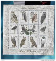 UKRAINE 2003 MNH - Block Fauna BIRDS Owls ** SALE!!! - Ukraine