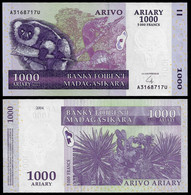 MADAGASCAR BANKNOTE - 1000 ARIARY - 5000 FRANCS 2004 P#89 UNC (NT#02) - Madagascar