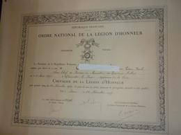 Diplomes Chev.et Off.L.H - Documenti