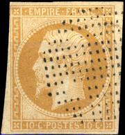 FRANCE - Yv.13A 10c Bistre Clair Type I Obl. Octogone Pointillé (points Carrés) - TB- - 1849-1876: Periodo Clásico