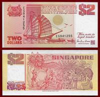 SINGAPORE BANKNOTE - 2 DOLLARS (1990) P#27 UNC (NT#02) - Singapore