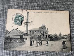 Rare Carte Postale 1907 Animée Fresnes-sur-Escaut Charbonnage La Fosse De Fresnes Midi - Valenciennes