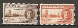 Antigua 1946 King George VI. Parliament In London Victorious End WW2  2v  MNH** 0,80 € - 1858-1960 Kolonie Van De Kroon