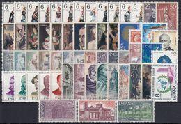ESPAÑA 1970 Nº1949/2007 AÑO NUEVO COMPLETO 59 SELLOS CON TRAJES - Full Years