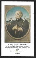 Santino/reliquia/holycard/relic: PHILIPP JENINGEN S.J. . E - Religión & Esoterismo