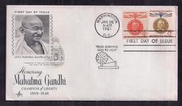 USA FDC Honorant Mahatma Gandhi 1961 - 1961-1970