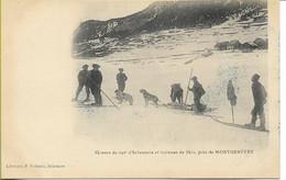 Skieurs Du 159éme Régiment D'Infanterie Et Traineau De Ski Près De MONTGENEVRE - Altri Comuni