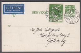 1929. DANMARK. Air Mail 10 øre  On 10 øre BREVKORT Print 86-J Cancelled  KØBENHAVN LU... (Michel 143+) - JF416445 - Airmail