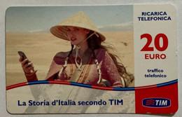 REF. 85 - TIM - 20 € - LA  STORIA D' ITALIA SECONDO TIM - VALIDITA SET 2014 - [2] Sim Cards, Prepaid & Refills