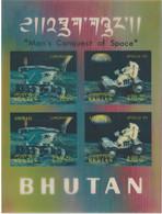C1552 Bhutan Space Spacecraft Travel Transport Vehicle Astronaut S/S 3D Plastic - Asia