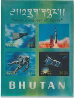 C1554 Bhutan Space Travel Manned Flight Apollo Walk S/S 3D Plastic - Asia