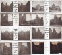 Plaques De Verre Stéréo Format Vérascope RICHARD - Lot De 8 : VIENNE, POITIERS Et CHAUVIGNY - Diapositiva Su Vetro