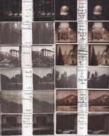 Plaques De Verre Stéréo Format Vérascope RICHARD - Lot De 19 Diverses France : ROYAT, BEAUGENCY, ELBEUF, YVETOT, AVIGNON - Diapositiva Su Vetro