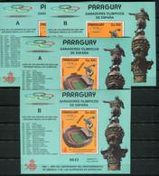 Soccer Football Paraguay 1989 Bl 454 A+B + Muestra A+B 1992 Olympics Barcelona MNH **  - Nuovi
