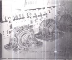 Plaque De Verre Format 18 X 24 Cm - MÉTRO Équipement Électrique - Commutatrices De ?000 KW - Diapositiva Su Vetro