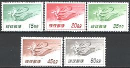 Ryu Kyu 1957 Y.T.9/13 */MH VF/F - Corréo Aéreo