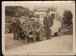 Photo Originale - Postale - España - Circa 1930 - Auto - Omnibus - Bus - Hommes - Aprx.85x60 Mm - A1RR2 - Cars