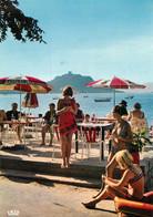 "/ CPSM FRANCE 20 ""Corse, Campomoro, La Terrasse Des Touristes"" - Other Municipalities"