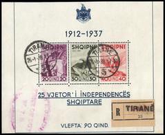 1937, Albanien, 261-63, Gest. - Albania