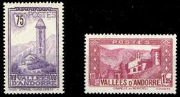 1932, Andorra Französische Post, 37, A 40, ** - Ohne Zuordnung
