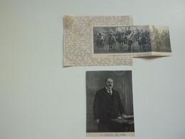 """Origineel Knipsel ( C 412 ) Uit Tijdschrift  """" Ons Volk """"  1913 :   R. Cotteau De Patin   Burgemeester Van Langemark - Ohne Zuordnung"""