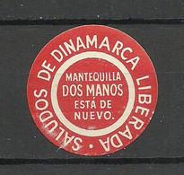 Denmark Dinamarca Vignette Poster Stamp MNH - Otros