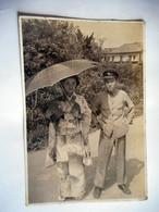PHOTO Japon 日本 MILITAIRE ET SA FEMME PARAPLUIE - Old (before 1900)
