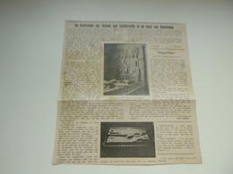 """Origineel Knipsel ( 3628 ) Uit Tijdschrift  """" Ons Volk """" 1913 : Grafsteden Der Graven Van Lichtervelde In Kerk Koolskamp - Ohne Zuordnung"""