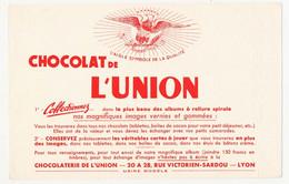 Buvard 20.9 X 13.5 Chocolat De L'UNION Lyon Rhône Collectionnez Les Images Vernies Et Gommées Aigle - Cocoa & Chocolat