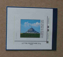 P3-E2 : UEFA Euro 2016 - Mont Saint-Michel (autocollant / Autoadhésif) - Gepersonaliseerde Postzegels