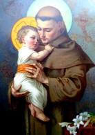 CPA .SAINT ANTOINE DE PADOUE . ENFANT . LYS  S. ANTONIUS DE PADUA . LILIES   OLD PC - Santos