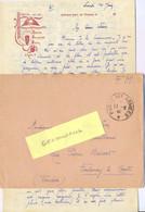 GUERRE 39-45 68e R.A.D. (REGIMENT D'ARTILLERIE DIVISIONNAIRE) Lettre Du 10 JUIN 1940 - Guerra Del 1939-45
