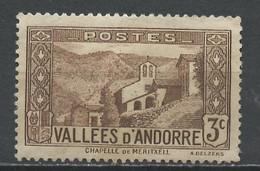 Andorre Français - Andorra 1932-33 Y&T N°26 - Michel N°26 *** - 3c Chapelle De Notre Dame De Meritxell - Ungebraucht
