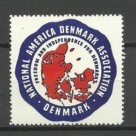 Denmark Patriotic Vignette MNH Map Landkarte - Otros