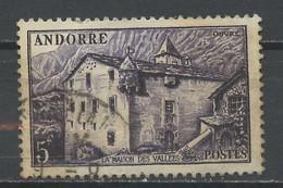 Andorre Français - Andorra 1948-51 Y&T N°124 - Michel N°(?) (o) - 5f Maison Des Vallées - Used Stamps