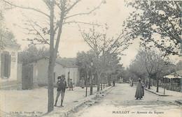 CPA Afrique > Algérie Maillot M'Chedallah Avenue Du Square - Andere Städte