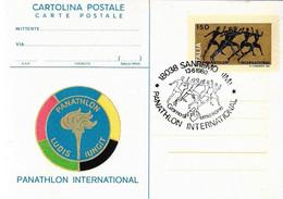 Cartolina Postale PANATHLON INTERNATIONAL (1980); AS_Sanremo - Stamped Stationery