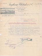 "Lettera ""Ditta Ingham Whitaker -Marsala 1938""=Italy Italia - Documenti Storici"