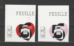 FRANCE / 2021 / Y&T N° AA 1954/1955 ? ** : Chanel N°5 (2 TP Adhésifs De Feuille) X 1 Paire CdF Sup G - Adhesive Stamps