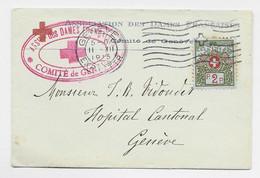 HELVETIA SUISSE 2C SOLO MIGNONNETTE SMALL COVER GENEVE 1915 + ASSOCIATION DES DAMES FRANCAISES COMITE DE GENEVE - Covers & Documents