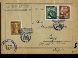 Carte Obl. WIEN 04/05/46 Pour Liège (BE) - 1945-60 Lettres