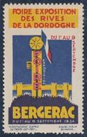 VIGNETTE GOMMEE FOIRE EXPO. DORDOGNE / BERGERAC 1934 - Altri