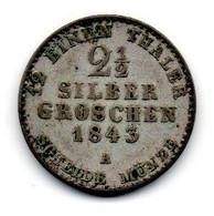 Prusse - 2.5 Silber Groschen 1843 A- TB+ - Sonstige