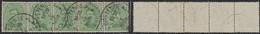 """émission 1915 - N°137 En Bande De 5 Obl Simple Cercle """"Oostende / Ostende 2E"""" - 1915-1920 Alberto I"""
